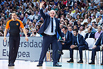 Real Madrid coach Pablo Laso during Turkish Airlines Euroleague Quarter Finals 4th match between Real Madrid and Panathinaikos at Wizink Center in Madrid, Spain. April 27, 2018. (ALTERPHOTOS/Borja B.Hojas)