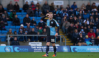 Jason McCarthy of Wycombe Wanderers gives thumbs up during the Sky Bet League 2 match between Wycombe Wanderers and Portsmouth at Adams Park, High Wycombe, England on 28 November 2015. Photo by Andy Rowland.