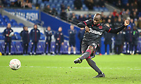 4th February 2020; Cardiff City Stadium, Cardiff, Glamorgan, Wales; English FA Cup Football, Cardiff City versus Reading; Sone Aluko of Reading strikes the final penalty to win Reading the game 3-4