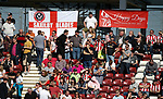 Sheffield Utd fans during the English League One match at Sixfields Stadium Stadium, Northampton. Picture date: April 8th 2017. Pic credit should read: Simon Bellis/Sportimage