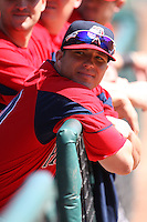 April 14, 2010:  Bubba Bell of the Pawtucket Red Sox before a game at Coca-Cola Field in Buffalo, New York.  Pawtucket is the Triple-A International League affiliate of the Boston Red Sox.  Photo By Mike Janes/Four Seam Images