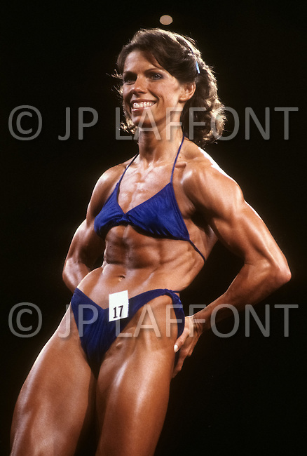 Atlantic City, April 24 1981. Lynn Conkwright at  the World Body Building Championships.