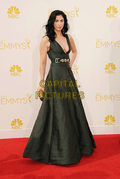LOS ANGELES, CA- AUGUST 25: Actress Sarah Silverman arrives at the 66th Annual Primetime Emmy Awards at Nokia Theatre L.A. Live on August 25, 2014 in Los Angeles, California.<br /> CAP/ROT/TM<br /> &copy;Tony Michaels/Roth Stock/Capital Pictures