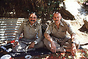 Iran 1981.Abdul Rahman Ghassemlou and Frederic Tissot at the headquarters of KDPI near Khidawe
