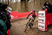Eli Iserbyt (BEL/Pauwels Sauzen-Bingoal)<br /> <br /> Elite + U23 Men's Race<br /> CX GP Leuven (BEL) 2020<br />  <br /> ©kramon