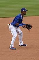 Iowa Cubs second baseman Arismendy Alcantara (3) during a Pacific Coast League game against the Colorado Springs Sky Sox on May 11th, 2015 at Principal Park in Des Moines, Iowa.  Colorado Springs defeated Iowa 13-7.  (Brad Krause/Four Seam Images)