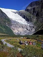 Norwegen, Sogn og Fjordane, Fjaerland und Gletscher Boyabreen, Teil des Gletschers Jostedalsbreen | Norway, Sogn og Fjordane, Fjaerland and glacier Boyabreen, part of glacier Jostedalsbreen