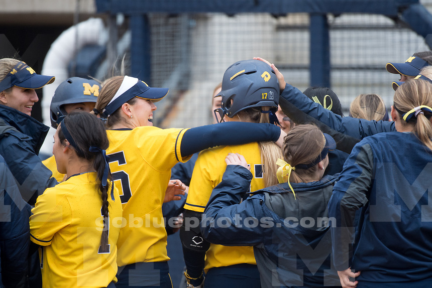 The University of Michigan softball team defeats Indiana on senior day, 8-0 (6 inn.), at Alumni Field in Ann Arbor, MI on April 29, 2017.