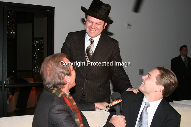 John C. Reilly &amp; Pat O'Brien interviews Leonardo DiCaprio for &quot;The Insider&quot;<br />**EXCLUSIVE**<br />Miramax Films Presents -&ldquo;The Aviator&rdquo; Post Premiere Party <br />Annex Restaurant<br />Hollywood, CA, USA<br />Wednesday, December 1, 2004<br />Photo By Selma Fonseca /Celebrityvibe.com/Photovibe.com, <br />New York, USA, Phone 212 410 <br />5354, email:sales@celebrityvibe.com