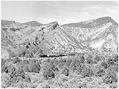 Freight along Animas River (probably near Bondad) on the Farmington Branch.<br /> D&amp;RGW  Farmington Branch, CO?  Taken by Richardson, Robert W. - 9/12/1946