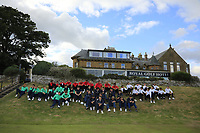 All teams wait for prizegiving during Day 3 / singles of the Boys' Home Internationals played at Royal Dornoch Golf Club, Dornoch, Sutherland, Scotland. 09/08/2018<br /> Picture: Golffile | Phil Inglis<br /> <br /> All photo usage must carry mandatory copyright credit (&copy; Golffile | Phil Inglis)