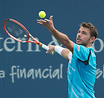 Stanislas Wawrinka (SUI) takes the first set against Benjamin Becker (GER) 6-3