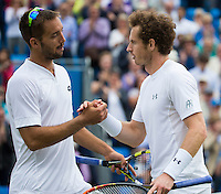 ANDY MURRAY (GBR), VIKTOR TROICKI (SRB)<br /> <br /> TENNIS - AEGON CHAMPIONSHIPS -  2015 -  QUEENS CLUB - LONDON -  ATP 500- 2015  - ENGLAND - UNITED KINGDOM<br /> <br /> &copy; AMN IMAGES