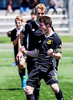 Action from the National Youth League football match between Wellington Phoenix and Canterbury United at Memorial Park in Petone, Wellington, New Zealand on Saturday, 10 November 2018. Photo: Dave Lintott / lintottphoto.co.nz