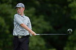 Kal Kolar of the Gateway PGA golf course follows through after teeing off on the second day of the Metropolitan Amateur Golf Association's 20th Junior Amateur Championship being held at the St. Clair Country Club in Belleville, IL on July 2, 2019. <br /> Tim Vizer/Special to STLhighschoolsports.com