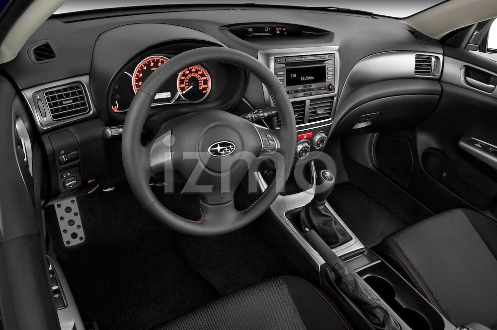 High angle dashboard view of a  2009 Subaru Impreza Wagon WRX