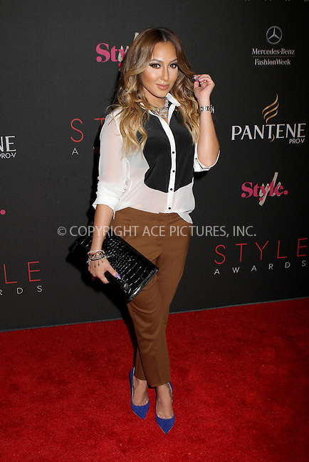 WWW.ACEPIXS.COM....September 5, 2012, New York City, NY.......Adrienne Bailon arriving at the 9th Annual Style Awards at Lincoln Center on September 5, 2012 in New York City.........By Line: Nancy Rivera/ACE Pictures....ACE Pictures, Inc..Tel: 646 769 0430..Email: info@acepixs.com