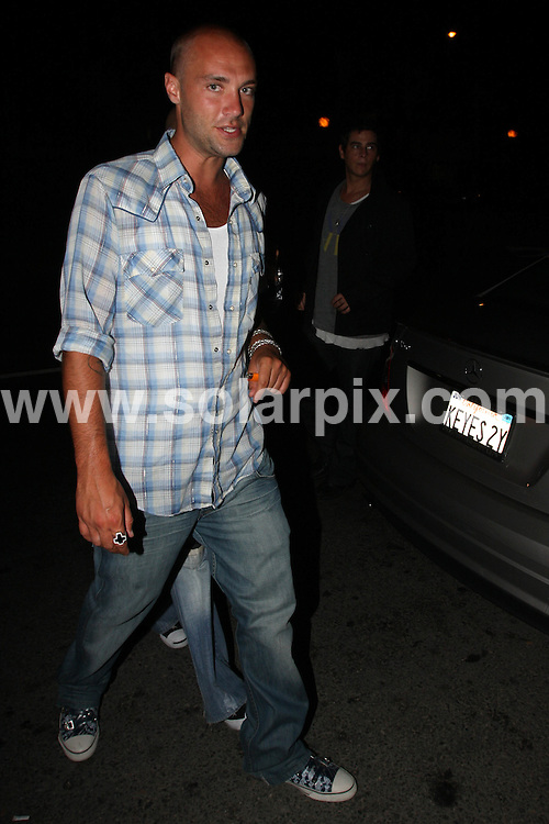 **ALL ROUND PICTURES FROM SOLARPIX.COM**.**SYNDICATION RIGHTS FOR UK AND SPAIN ONLY**.Calum Best outside Foxtail Lounge in West Hollywood, California, USA. 14th August 2008..This pic: Calum Best..JOB REF: 7027 LAP/Lancer        DATE: 14_08_2008.**MUST CREDIT SOLARPIX.COM OR DOUBLE FEE WILL BE CHARGED* *UNDER NO CIRCUMSTANCES IS THIS IMAGE TO BE REPRODUCED FOR ANY ONLINE EDITION WITHOUT PRIOR PERMISSION*