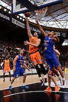 Ribas vs B&aacute;ez<br /> Liga Endesa ACB - 2014/15<br /> J12<br /> Valencia Basket vs Herbalife Gran Canaria