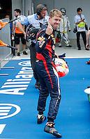 ATENCAO EDITOR IMAGEM EMBARGADA PARA VEICULO INTERNACIONAL - SAO PAULO, SP, 06 OUTUBRO DE 2012 - FORMULA 1 GP JAPAO -  O piloto alemao Sebastina Vettel da equipe Red Bull conquista a pole position durante treino classificatorio nesta sabado, 06, para o Grande Premio do Japao que acontece amanha em Suzuka no Japao. FOTO: PIXATHLON / BRAZIL PHOTO PRESS)