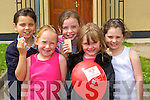 Enjoying the ice cream party in Ballyspillane Resource Centre, Killarney on Monday was l-r: Razia Durrani, Caoimhe Maddigan, Christina O'Connell, Kelsey Summers and Chloe McCarthy.   Copyright Kerry's Eye 2008