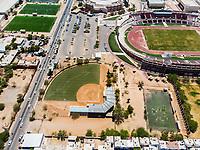 Vista aerea de Complejo deportivo de la Comisión Estatal de Deporte, CODESON en Hermosillo, Sonora....<br /> Estadio Héroe de Nacozari. <br /> Estadio de béisbol Estadio Fernando M. Ortiz<br /> Campo De Tiro Con Arco.<br /> Campos Deportivos de la Liga Oxxo.<br /> Boulevard o calle Periferico Norte<br /> Pasto Sintetico. <br /> <br /> Photo: (NortePhoto / LuisGutierrez)<br /> <br /> ...<br /> keywords:
