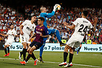 FC Barcelona's Philippe Coutinho (f) and Valencia CF's Gabriel Paulista (l), Jaume Domenech (b) and Ezequiel Garay during Spanish King's Cup Final match. May 25,2019. (ALTERPHOTOS/Carrusan)