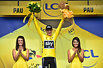 Race leader Chris Froome (GBR) Team Sky retains the Yellow Jersey at the end of Stage 11 of the 104th edition of the Tour de France 2017, running 203.5km from Eymet to Pau, France. 12th July 2017.<br /> Picture: ASO/Pauline Ballet | Cyclefile<br /> <br /> <br /> All photos usage must carry mandatory copyright credit (&copy; Cyclefile | ASO/Pauline Ballet)