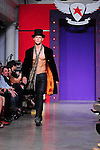 "MIAMI, FL - October 21: A model walking the runway during Andy Hilfiger introduction of rock inspired clothing line called ""Andrew Charles"" during Funksion Fashion Week at The Moore Building on October 21, 2011 in Miami, Florida.  (Photo by Johnny Louis/jlnphotography.com)"