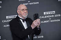 "Albert Watson attends the gala night for official presentation of the Presentation of the Pirelli Calendar 2019 ""The cal"" held at the Hangar Bicocca. Milan (Italy) on december 5, 2018. Credit: Action Press/MediaPunch ***FOR USA ONLY***"