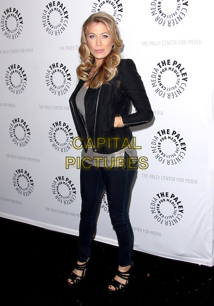 "SONYA WALGER.7th Annual Paley Fest - ""FlashForward""  held at the Saban Theatre,  Beverly Hills, California, USA, 11th March 2010..full length black jacket hands in pockets  skinny jeans sandals open toe silver top  .CAP/ADM/TC.©T.Conrad/Admedia/Capital Pictures"