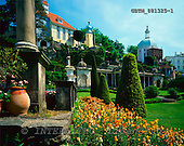 Tom Mackie, FLOWERS, photos, Portmeirion, Gwynedd, Wales, GBTM881325-1,#F# Garten, jardín