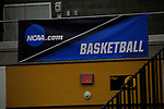 GRAND RAPIDS, MI - MARCH 18: An NCAA basketball banner hangs during the Division III Women's Basketball Championship logo is on display at Van Noord Arena on March 18, 2017 in Grand Rapids, Michigan. Amherst defeated 52-29 for the national title. (Photo by Brady Kenniston/NCAA Photos via Getty Images)