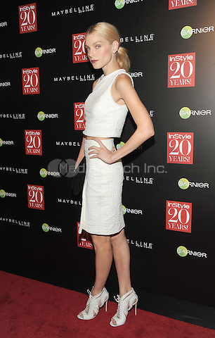 New York, NY-September 8: Jessica Stam attends Instyle 20th Anniversary Party on September 8, 2014 at Diamond Horseshoe at the Paramount Hotel in New York City.  Credit: John Palmer/MediaPunch