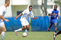 2 October 2011:  FIU forward Colby Burdette (2) moves the ball upfield in the second half as the FIU Golden Panthers defeated the University of Kentucky Wildcats, 1-0 in overtime, at University Park Stadium in Miami, Florida.