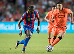 Liverpool FC midfielder Marko Grujic (R) fights for the ball with Crystal Palace midfielder Bakary Sako (L) during the Premier League Asia Trophy match between Liverpool FC and Crystal Palace FC at Hong Kong Stadium on 19 July 2017, in Hong Kong, China. Photo by Yu Chun Christopher Wong / Power Sport Images