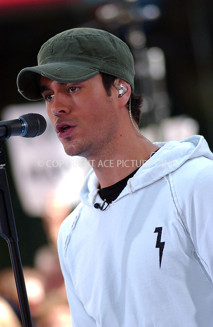 "WWW.ACEPIXS.COM . . . . . ....June 15 2007, New York City....Singer Enrique Iglesias performs on NBC's ""Today Show"" summer concert series at the Rockefeller Center in midtown Manhattan.....Please byline: KRISTIN CALLAHAN - ACEPIXS.COM.. . . . . . ..Ace Pictures, Inc:  ..(646) 769 0430..e-mail: info@acepixs.com..web: http://www.acepixs.com"