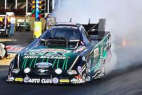 May 16, 2014; Commerce, GA, USA; NHRA funny car driver John Force during qualifying for the Southern Nationals at Atlanta Dragway. Mandatory Credit: Mark J. Rebilas-USA TODAY Sports
