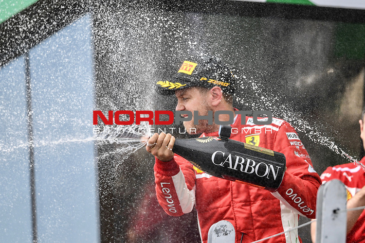 10.06.2018, Circuit Gilles Villeneuve, Montreal, FORMULA 1 GRAND PRIX DU CANADA, 08. - 10.06.2018 <br />  , im Bild<br /> Sieger Sebastian Vettel (GER#5), Scuderia Ferrari<br /> <br /> <br /> <br /> <br /> Foto &copy; nordphoto / Bratic