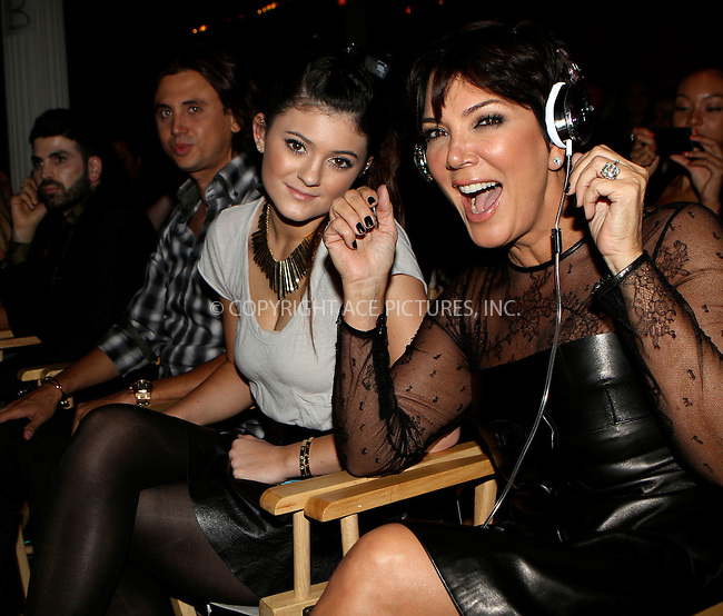 WWW.ACEPIXS.COM....September 11 2012, New York City....Kylie Jenner and Kris Jenner at the Tumbler And Tipsy By Michael Kuluva spring 2013 fashion show during Style360 at Metropolitan Pavillion on September 11, 2012 in New York City.......By Line: Nancy Rivera/ACE Pictures......ACE Pictures, Inc...tel: 646 769 0430..Email: info@acepixs.com..www.acepixs.com