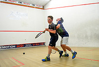Bpys' squash final between Reece Holmes and Oli Dunbar. 2019 AIMS games at Blake Park in Mount Maunganui, New Zealand on Thursday, 12 September 2019. Photo: Dave Lintott / lintottphoto.co.nz