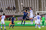 Kitagawa Koya of Japan (3rd L) fights for the ball with Egor Krimets of Uzbekistan (3rd R) during the AFC Asian Cup UAE 2019 Group F match between Japan (JPN) and Uzbekistan (UZB) at Khalifa Bin Zayed Stadium on 17 January 2019 in Al Ain, United Arab Emirates. Photo by Marcio Rodrigo Machado / Power Sport Images
