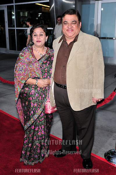 "Harish Patel & wife at the Los Angeles premiere of his new movie ""Run Fat Boy, Run"" at the Arclight Theatre, Hollywood..March 24, 2008  Los Angeles, CA.Picture: Paul Smith / Featureflash"