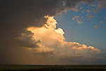Lightning and passing storm on the Great Plains of Colorado.