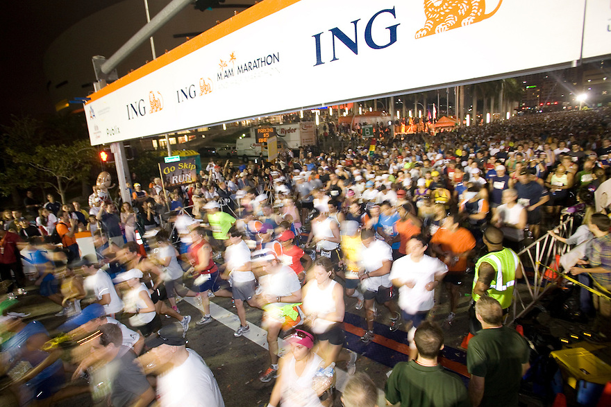Miami, Florida January,31,2010: ING Miami Marathon 2010