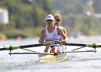 Poznan, POLAND,   GBR W2-, Bow, Olivia WHITLAM and Louisa REEVE, competing in the heats of the women's pair, on the first day of the, 2009 FISA World Rowing Championships. held on the Malta Rowing lake, Sunday 23/08/2009 [Mandatory Credit. Peter Spurrier/Intersport Images]