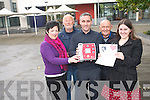 The newly formed Killorglin Defibrillator Group are calling on the local community to support them in their very first fund-raiser taking place this Thursday night, October 23rd. <br /> Front L-R Orna Eccles (PRO), Derek O'Leary (chairman) and Anna-Rose O'Sullivan. <br /> Back L-R Jimmy Hayes and Peter Whelan (co-ordinator).