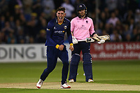 Daniel Lawrence of Essex celebrates taking the wicket of John Simpson during Essex Eagles vs Middlesex, NatWest T20 Blast Cricket at The Cloudfm County Ground on 11th August 2017