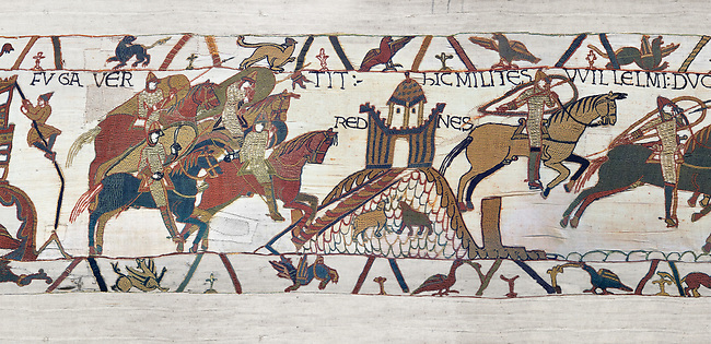 Bayeux Tapestry Scene 18 - Normans attack Dol Rennes