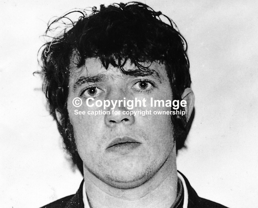 James Joseph Burns, 25 years, escapee, from Maze Prison, N Ireland, 12th December 1973, 197312120947<br />